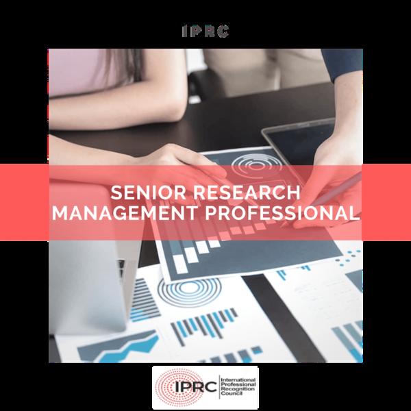 Senior research management professional